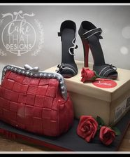 ladies louboutin heels and box