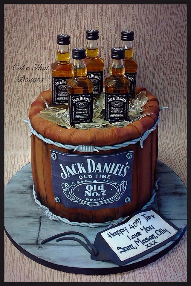 Happy Birthday Jack Daniels Cake